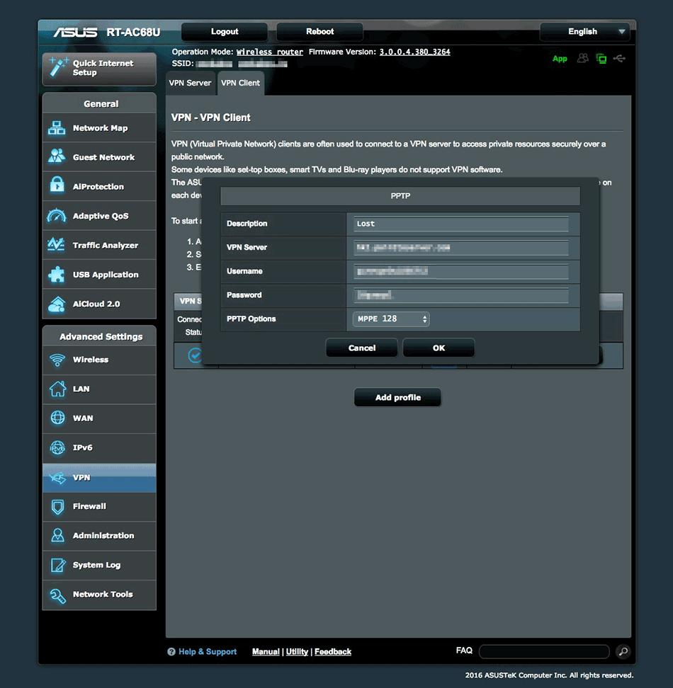 vpn client - Asus Rt Ac66u Vpn Server Setup