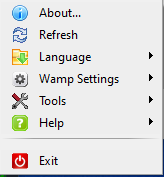 WAMP - Right-click button menu display