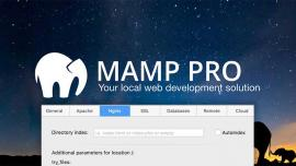 Running Drupal with NginX on MAMP Pro
